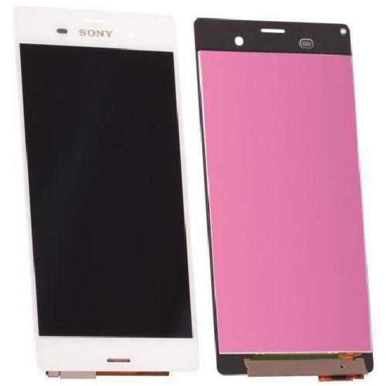 ECRAN LCD + VITRE TACTILE SONY XPERIA Z3 D6603 ORIGINAL BLANC