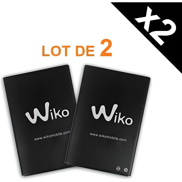 Lot de 2 batteries d'origine Wiko 1300 mAh pour...
