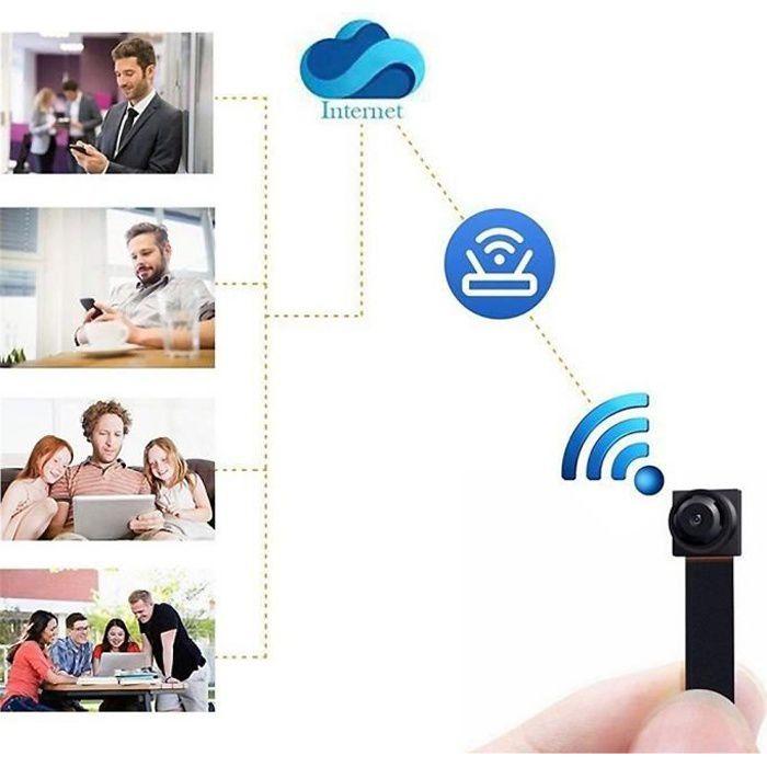 Wifi caméra 1080P mini caméra cachée sans fil full hd vision nocturne wifi IP espion module de bricolage