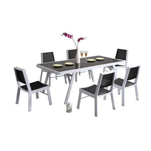 table de jardin pvc blanc carrefour. Black Bedroom Furniture Sets. Home Design Ideas