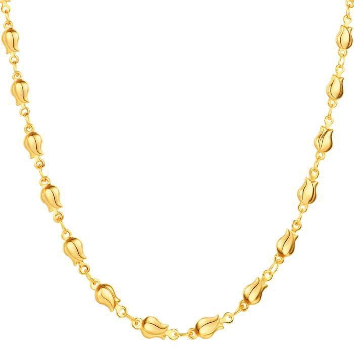 bijoux en or collier femme