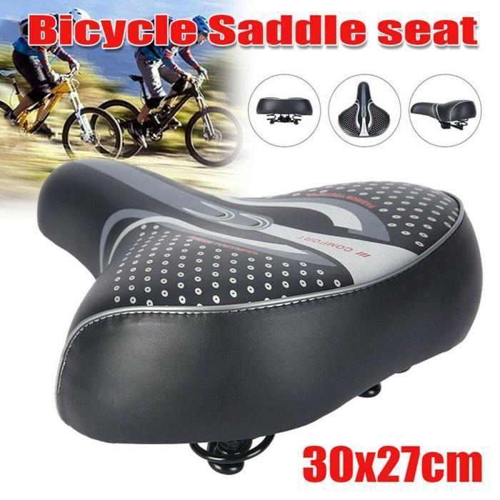 Extra Large Vélo siège Selle de vélo de montagne Vélo Doux Confortable Large Siège