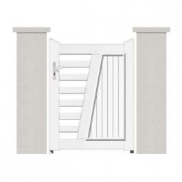 Portillon en pvc hauteur standard 1 35m dimensions for Achat portillon pvc