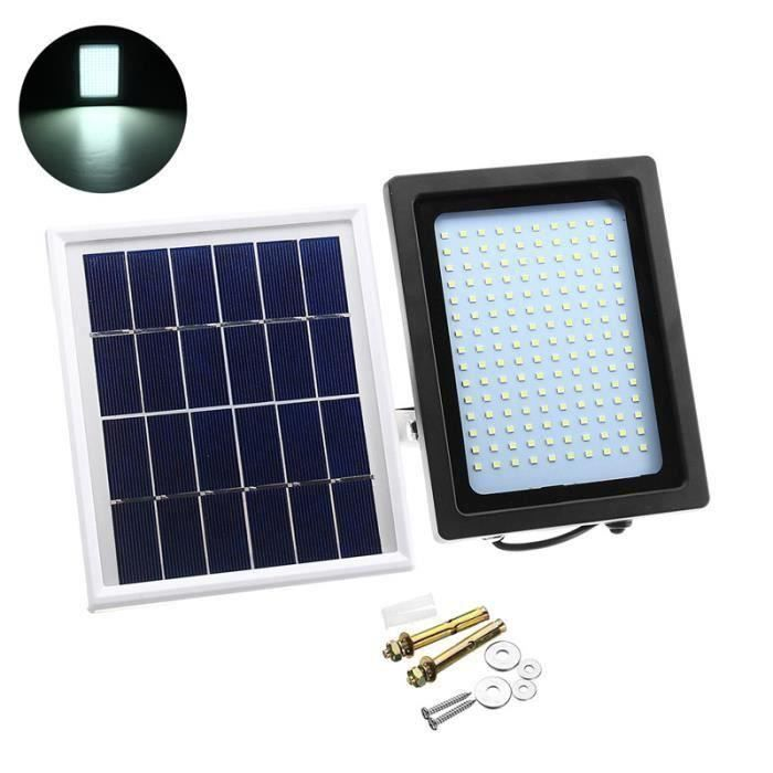 Applique Extérieur Panneau Solaire 15W 150LED Éclairage Jardin Détecteur  Mouvement Lumière Blanc