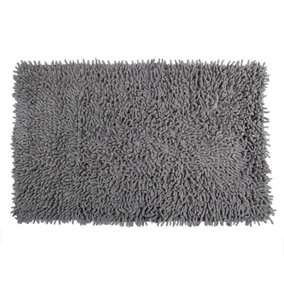 tapis de bain chenille gris achat vente tapis de bain chenille gris pas cher soldes d s. Black Bedroom Furniture Sets. Home Design Ideas