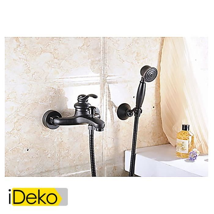 ideko robinet mitigeur huile aquafaucet frott montage mural de bronze poche baignoire pommeau. Black Bedroom Furniture Sets. Home Design Ideas