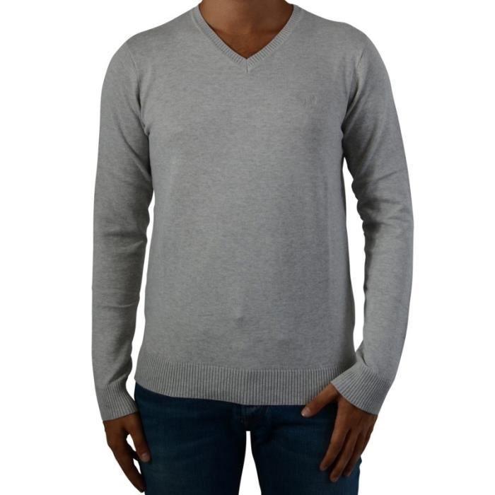 Pull Kaporal Homme Tavel V2 Grey Melanged