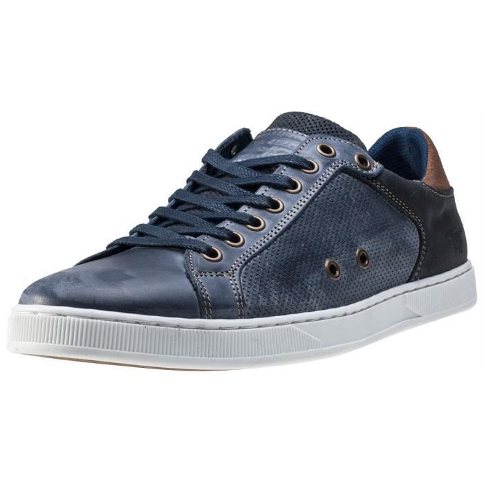 Mustang 3-tone Washed Low Hommes Baskets Blue - 46 EU