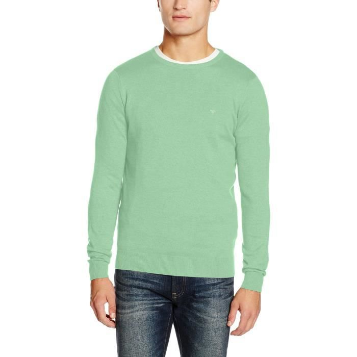Tom Tailor Basic Crew Neck Sweater Jumper 1k3fen Taille 36 Vert Vert
