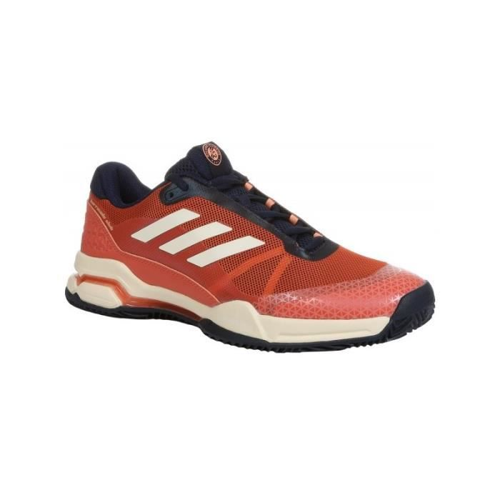 more photos 1d82a ba640 CHAUSSURES DE TENNIS Chaussures ADIDAS Homme Barricade Club Clay Rouge