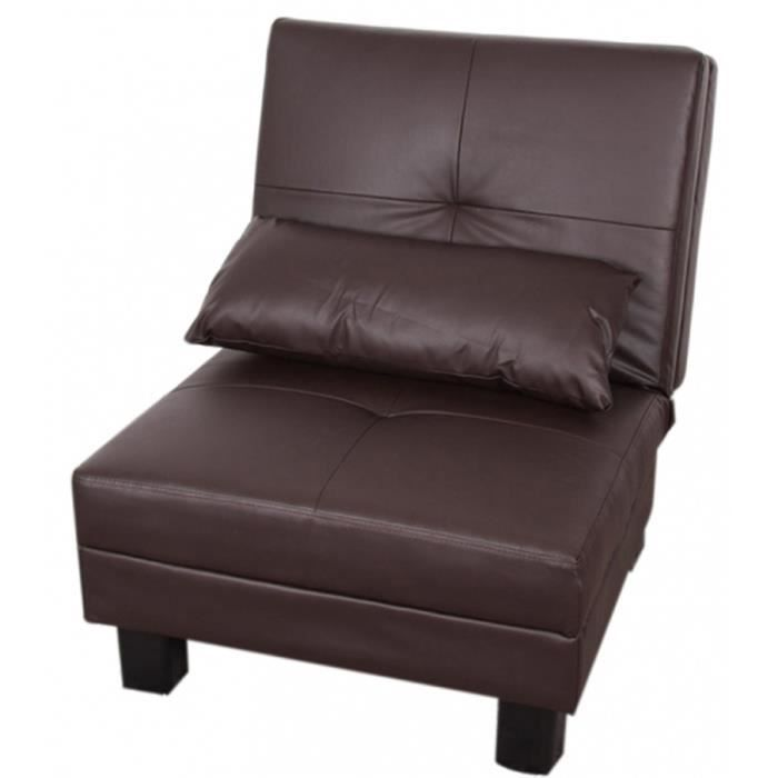 Canap fauteuil relax n27 en cuir artificiel co achat vente canap sof - Cdiscount canape relax ...