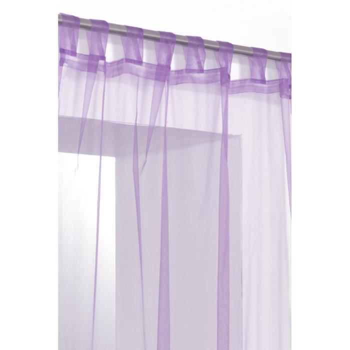rideau voilage organza uni a pattes violet mauve achat. Black Bedroom Furniture Sets. Home Design Ideas
