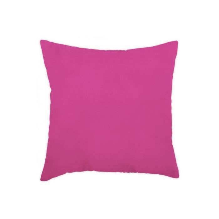 coussin 40x40 cm uni d houssable rose fushia achat. Black Bedroom Furniture Sets. Home Design Ideas