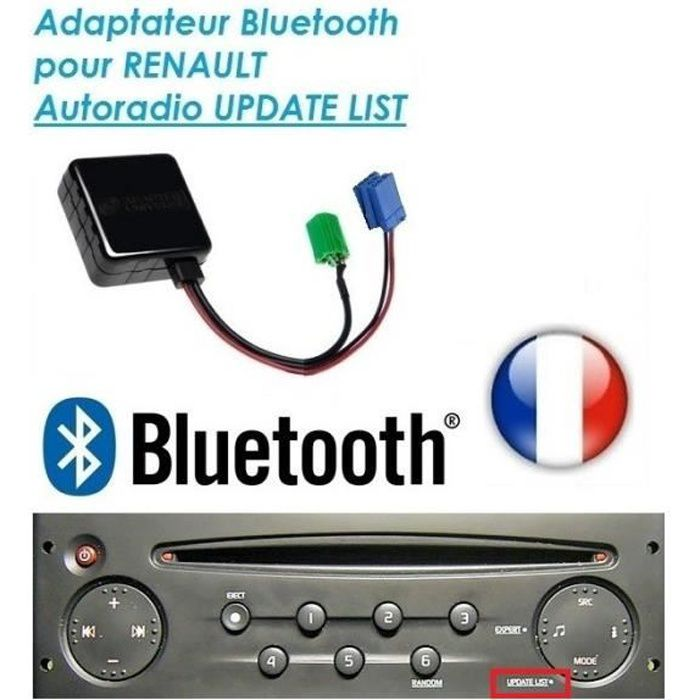 cable bluetooth auxiliaire renault megane 2 scenic 2 clio master laguna modus skyexpert achat. Black Bedroom Furniture Sets. Home Design Ideas