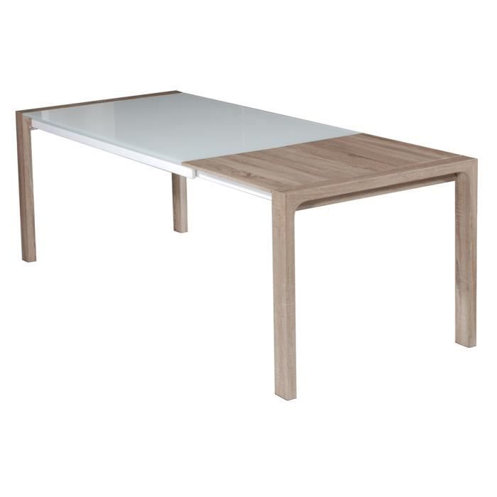 Kolav table extensible swithome kolav laqu e bl achat for Table laquee extensible