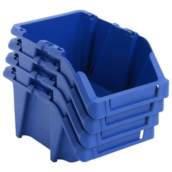 Bac De Rangement Empilable 250 Pcs 103x165x76 Mm Bleu Organisation Et Rangement D Outils Armoires A Outils Bleu Bleu Achat Vente Bac De Rangement Outils Bac De Rangement Empilable Cdiscount