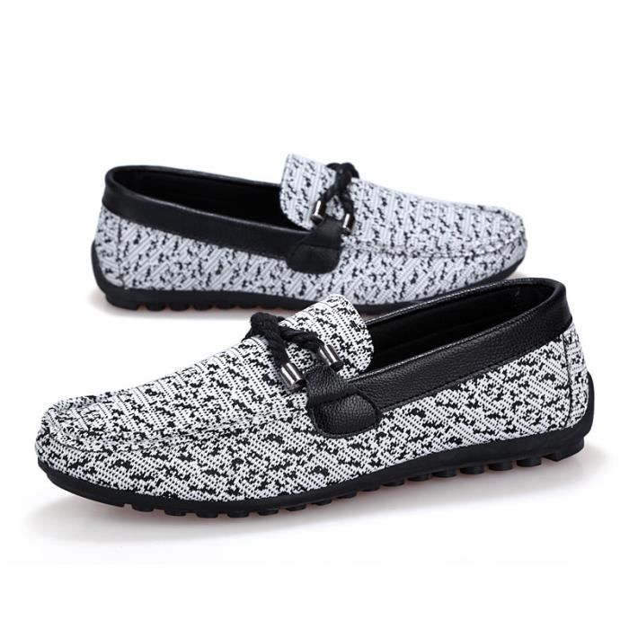 Casual Angleterre Chaussures Zapato Nouveau gris Shoes Hommes Slip Flats 42 Chaussures Printemps Mode Mocassins HwUw40