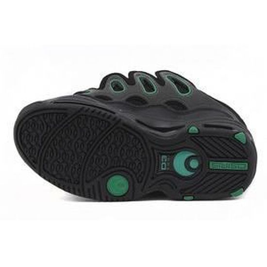 Baskets OSIRIS D3 2001 Black charcoal green DaJz4