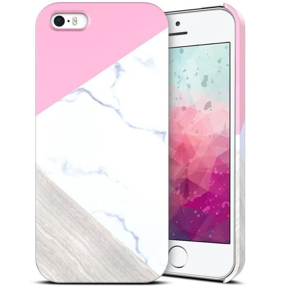coque iphone se 5s 5 motif marbre coque plastique