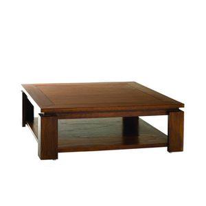 TABLE BASSE LOLA Table basse ethnique double plateau L 90 x l