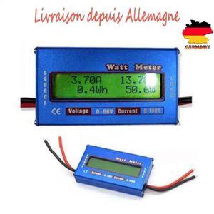 TESTEUR DE BATTERIE 60V100A Watt Meter Numérique Ecran LCD RC Voltage