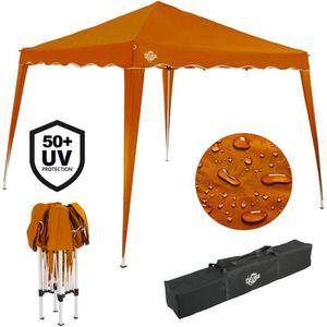 TONNELLE - BARNUM Tente pavillon de jardin 3x3 mètres Orange pliable