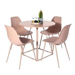 TABLE DE CUISINE  Table à Manger Ronde de 2 à 4 Personnes Scandinave