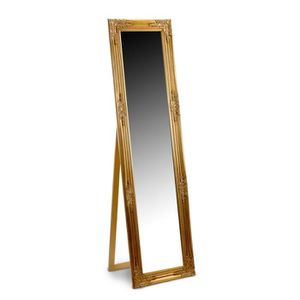 MIROIR Miroir psyche en resine, dore, 164x44 cm