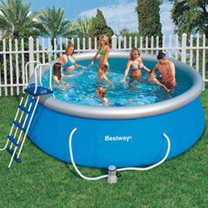 Miscelatori piscina pretty pool bestway for Piscine easy set