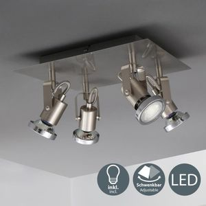 PLAFONNIER B.K.Licht plafonnier LED Phönix 4 • 4 spots • orie