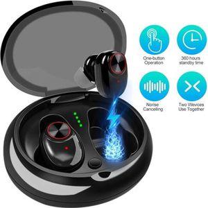 CASQUE - ÉCOUTEURS Wireless Écouteurs TWS Casque Étanche Bluetooth V5