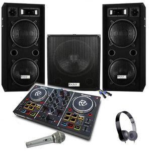 PACK SONO CUBE 1512 PACK SONO AMPLIFIÉ 2800W + CONTROLEUR PA