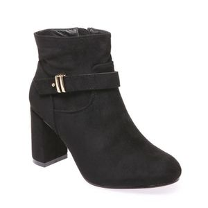 BOTTINE La Modeuse - Bottines femme aspect daim