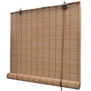 STORE DE FENÊTRE Store roulant en bambou 100 x 220 cm Marron
