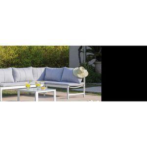 MÉRIDIENNE Salon de jardin en aluminium avec méridienne Metz