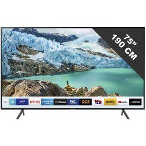 Téléviseur LED TV LED plus de 52 pouces SAMSUNG - UE 75 RU 7175 •