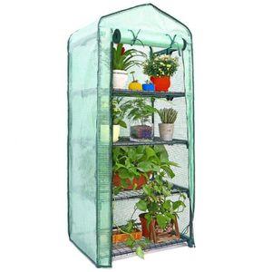 Tente de Serre pour Plantes /à la Maison de Niveau PE Mini abri de Fleurs de Jardin pour Serre /à 4 Niveaux Couverture Uniquement N//H Remplacement de Couverture de Serre