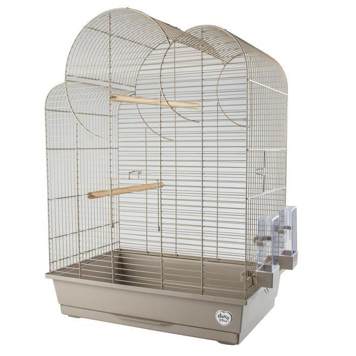 LAROY DUVO Cage pour oiseaux Mocha Eliza - 54 x 34 x 75 cm - Moka