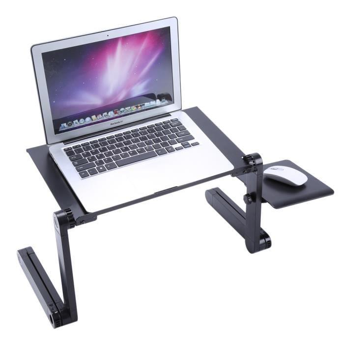 1 pc table réglable pour ordinateur, réglable en bambou rack dortoir lit Lap bureau portable livre plateau de lecture stand Mad