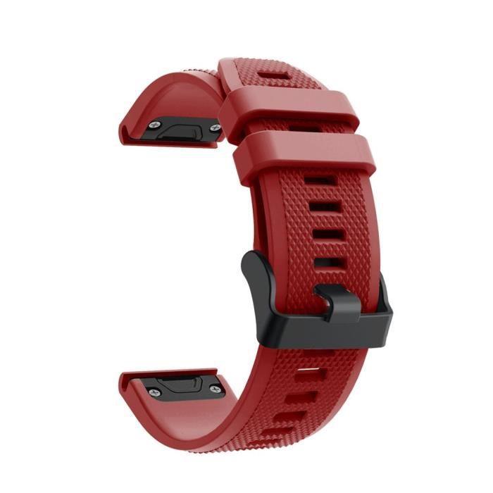 bracelet de montre vendu seul Bracelet en silicone souple de remplacement pour montre Garmin Forerunner 945 FQQ90719107RD_non