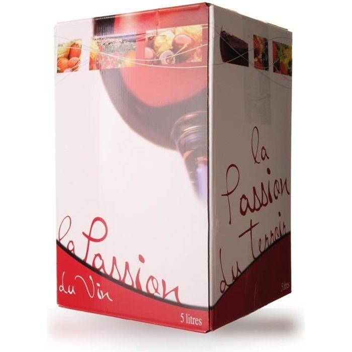 Bag-In-Box 5L Domaine de Lescure Rouge IGP Comté Tolosan - 500cl - Vin Rosé
