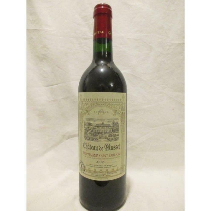 montagne saint-émilion château de musset rouge 2005 - bordeaux france