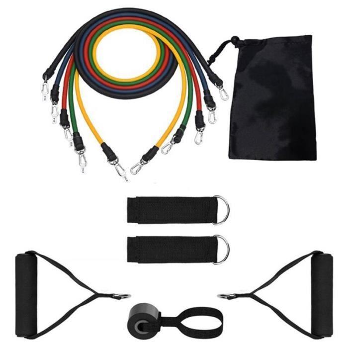 11 pièces bandes de résistance tirer ensemble de corde extenseur Yoga exercice Fitness Tubes en - Modèle: 11Pcs Set - HSJSTLDA04795