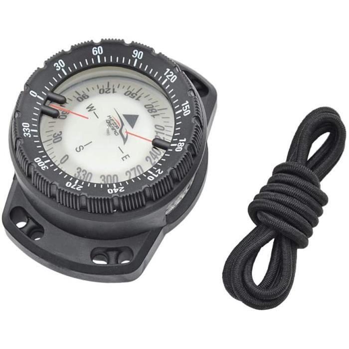 Boussole de plongée sous-marine lumineuse poignet Boussole de navigation sous-marine étanche Boussole avec cordon élastique de v,595