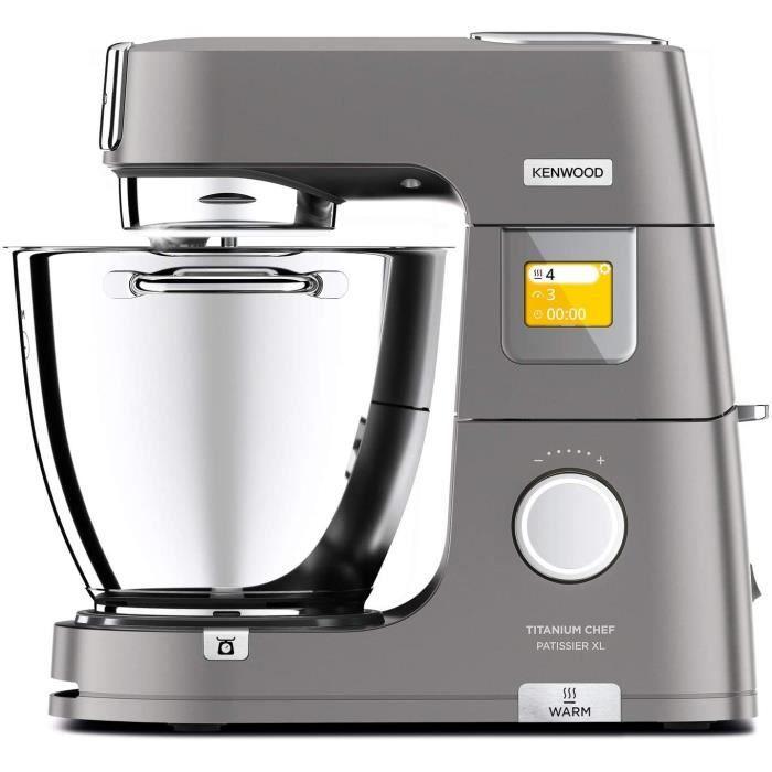 Kenwood Titanium Chef Pâtissier XL KWL90.034SI, Robot Pâtissier Multifonction avec Bol de 7L, 1400 W, Argent