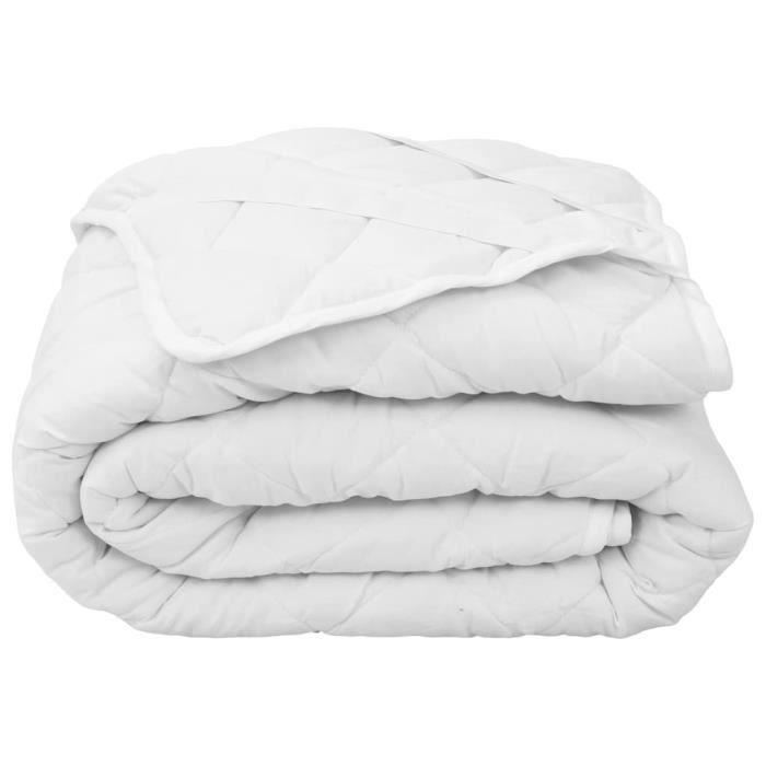 Protèges-matelas Couvre-matelas matelassé -Blanc 180x200 cm Léger