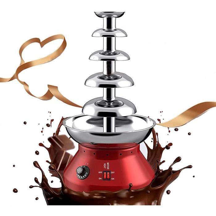 Fontaine À Chocolat À 5 Niveaux, Machine De Fonte De Cascade De Fontaine De Fondue Au Chocolat Avec Base De Pot De Fonte Chaud[126]