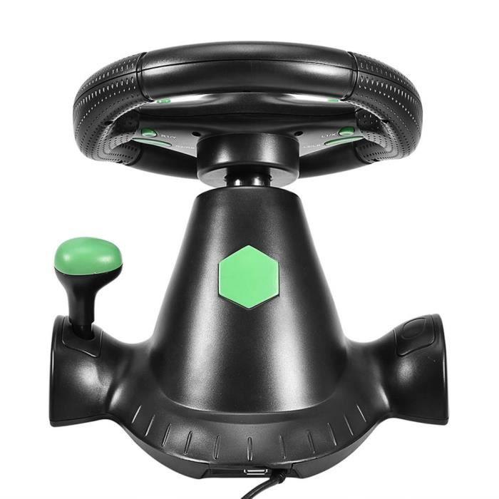 Pédales de volant de course de vibration de jeu pour PS2/PS3/PC USB, roue de direction de voiture USB, volant de jeu, volant de