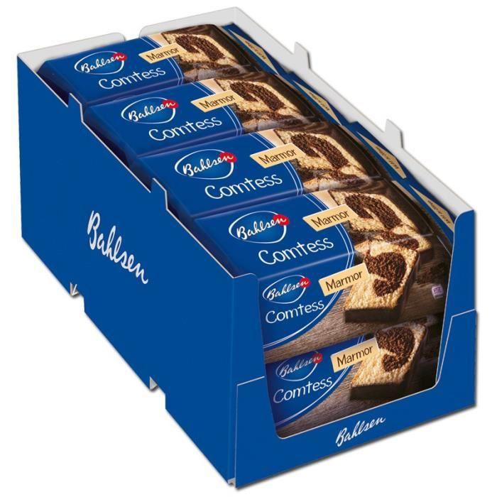 Bahlsen Comtess Marmor, gâteaux, gâteaux au chocolat, 8 pièces de 350 gr