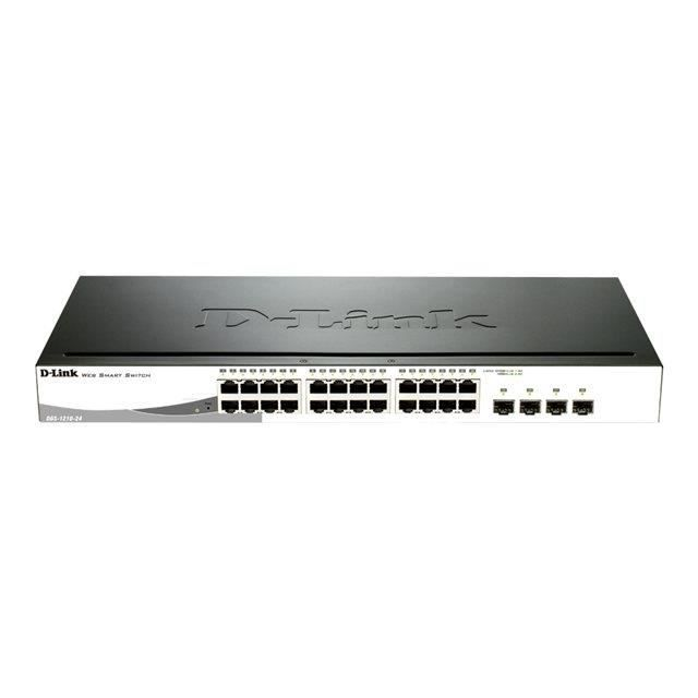 D-LINK Switch Smart 24 ports - DGS-1210-24P - 10/100/1000Mbps
